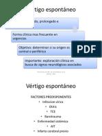 Fisiopatogenia Del Vertigo
