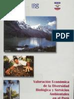 Valoración Econom. de la Diversidad Biológica y Serv. Ambientales en el Peru