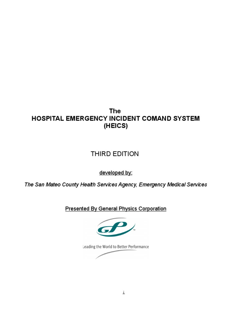 HEICS Complete Manual | Incident Command System | Emergency