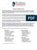 Host a Candidate Forum Guide