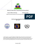 Haiti Energy Sector Development Plan 2007 - 2017, 11-2006