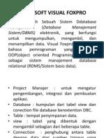 Mengenal Microsoft Visual FoxPro