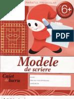 Modele de Scriere - Caiet de Lucru, Grupa Pregatitoare