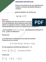 0Progresiones aritméticas