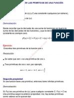 0Propiedades de las primitivas de una función
