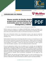 Mcafee Mobile Security proporciona características de privacidad avanzadas