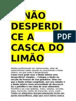 NÃO DESPERDICE A CASCA DO LIMÃO