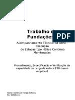 Trabalho de Fundações