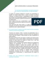 A formação do capital na América latina e o processo inflacionário