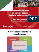 BANCAMIASobreendeudamiento Congreso Asomicrofinanzas MMGVFinal