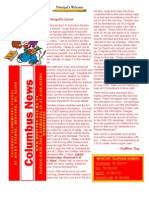 Columbus Elementary School September 2012 Newsletter