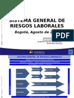 Sistema General de Riesgos Laborales (Ley  Nro.1562 de 2012) Agosto 24 de 2012