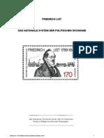 Friedrich List.das Nationale System Der Politischen Oekonomie