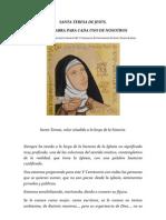 Santa Teresa, Una Palabra Para Cada Uno de Nosotros