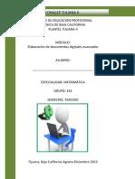 Portada Elaboracion de documentos