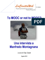 To MOOC or not to MOOC? Intervista a Manfredo Montagnana