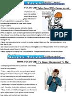 Safety Talks!