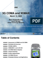 Overview of 3G CDMA and WiMAX v3