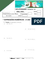 001 BLOCO DE ATIVIDADES 001 - 5º ANO - EXPRESSÕES NUMERICAS