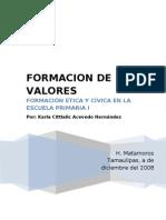 Formacion en Valores