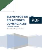 Los Bienes. Elementos de Las Relaciones Comerciales