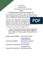 Informe Nro 0 Red Nacional de Personas Viviendo con VIH y sida en Bolivia (REDBOL) Agosto de 2012