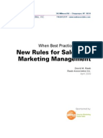 New Rules for Marketing & Sales Management