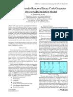 Design of a Pseudo-Random Binary Code Generator via a Developed Simulation Model