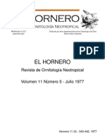 Revista El Hornero, Volumen 11, N° 5.