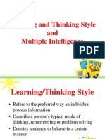 Learning and Thinking Style PPT