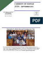 Jodo Mission of Hawaii Bulletin - September 2012
