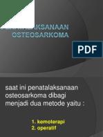 Penatalaksanaan OSTEOSARKOMA ( kemoterapi)