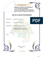 Informe Reciclaje de polimeros