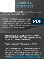 Special Clauses in Contracts