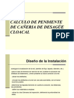 Desague Cloacal Calculo de Pendiente3