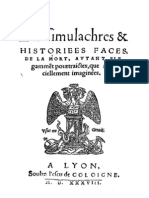 Les Simulachres & Histoirees Faces de La Mort_francese_1538