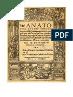 Dryandrum Anatomiae Hoc Est 1537 Latino