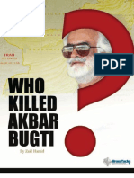 Who Killed Bugti?