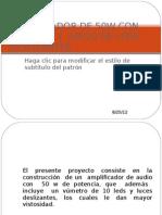 AMPLIFICADOR DE 50W CON VÚMETRO Y  JUEGO DE