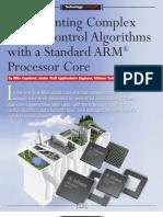 Implementing Complex Motor Control Algorithms w ARM Processor Core
