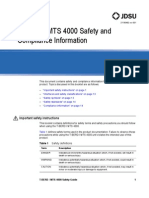 MTS-TBERD 4000 Safety Information (English)