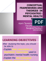 Conceptual Frameworks and Theories in Psychiatric- Mental Health Nursing