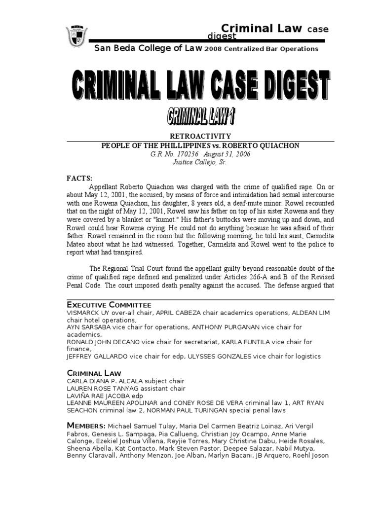 case digest crim pro