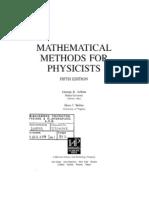 Mathematical Methods for Physicists, Arfken, Weber