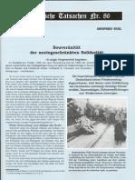 Historische Tatsachen - Nr. 86 - Siegfried Egel - Souveraenitaet Der Uneingeschraenkten Solidaritaet (2003, 40 S., Scan)