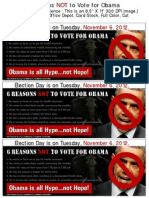 6 Reasons NOT to Vote for Obama