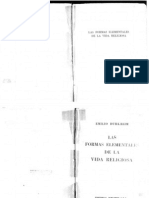 47725973 Emile Durkheim Las Formas Elementales de La Vida Religiosa