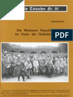 Historische Tatsachen - Nr. 88 - Siegfried Egel - Die Weimarer Republik Im Visier Der Globalisten (2004, 40 S., Scan)