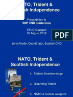 Nato Trident and Scottish Independence