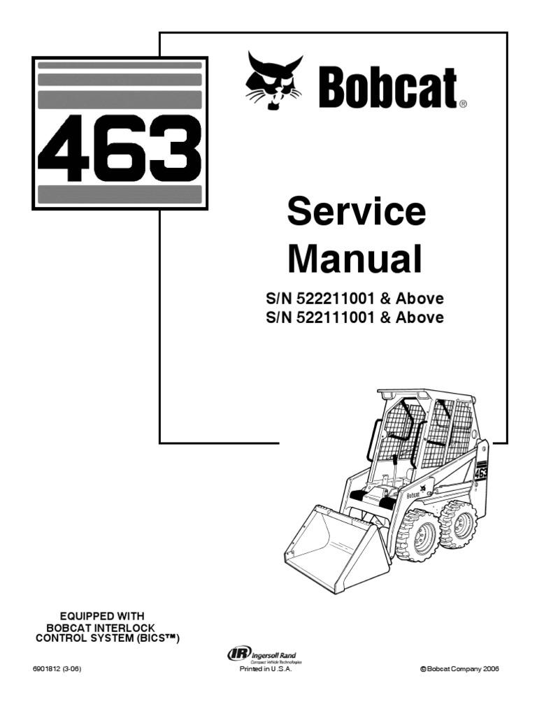 6971762-Bobcat 463 Skid Steer Loader Service Repair Manual